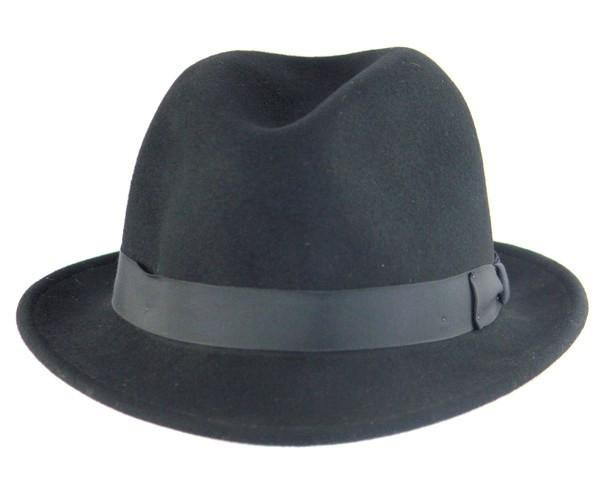Buffalo Wool Co. Fedora in Black Bison Gear The Buffalo Wool Co.