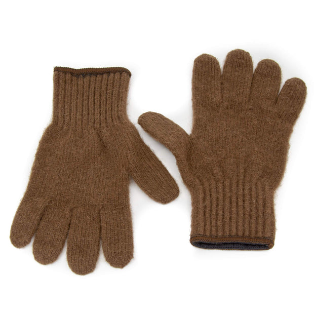 Extreme Gear Bison Down Gloves (Brown or Black) Bison Gear The Buffalo Wool Co. Small Brown