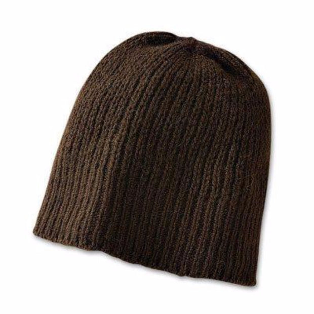 Bison Beanie Bison Gear The Buffalo Wool Co. Ribbed - Brown