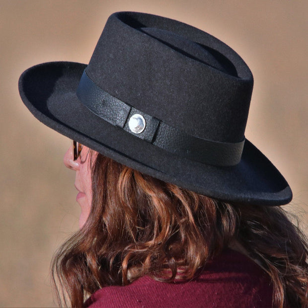 Bison Gambler crushable Hat Bison The Buffalo Wool Co.