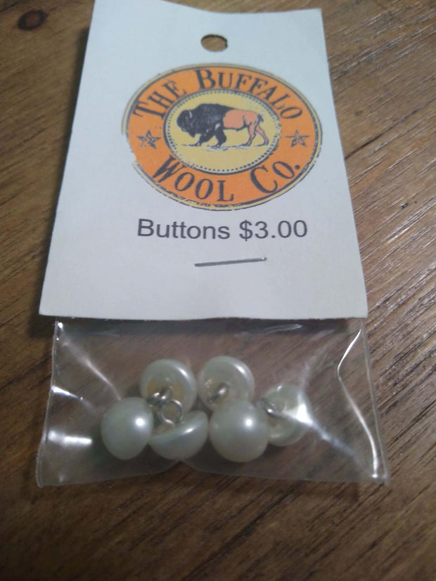 Buttons Accessories The Buffalo Wool Co. Pearl button