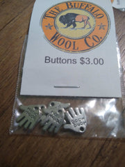 Buttons Accessories The Buffalo Wool Co. Hand made charms