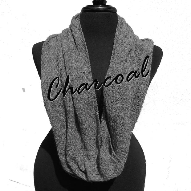 Infinity Scarf Bison Gear The Buffalo Wool Co. Charcoal