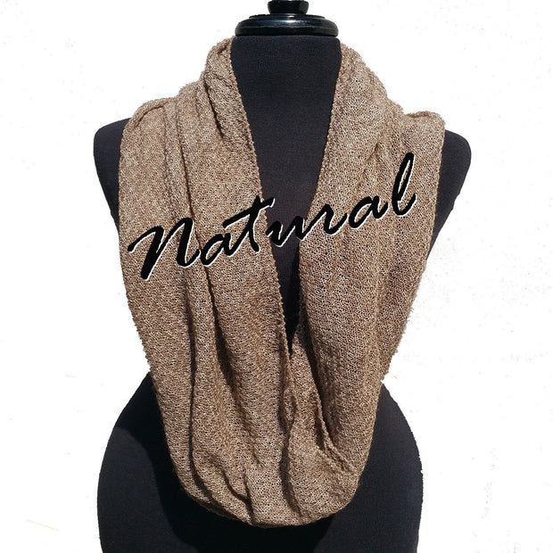 Infinity Scarf Bison Gear The Buffalo Wool Co. Natural
