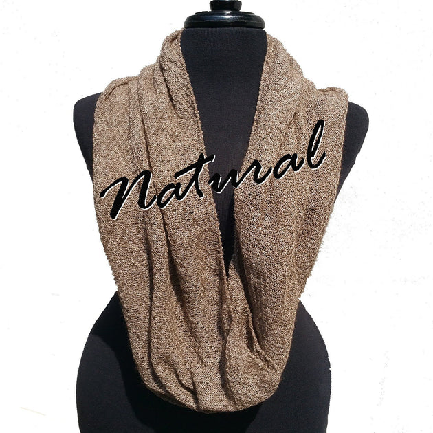 Bison Infinity Scarf Natural (undyed)