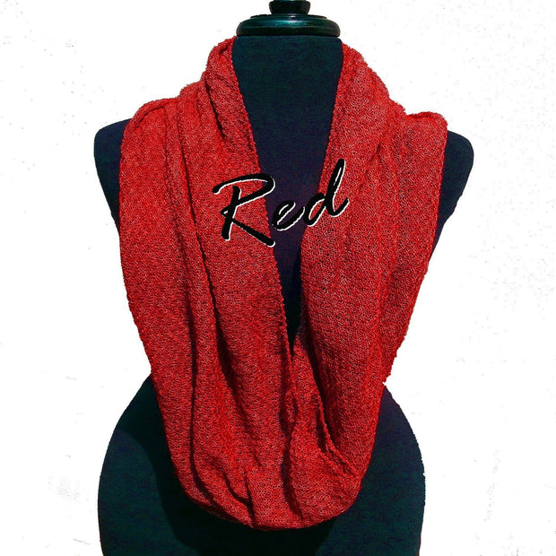 Infinity Scarf Bison Gear The Buffalo Wool Co. Red