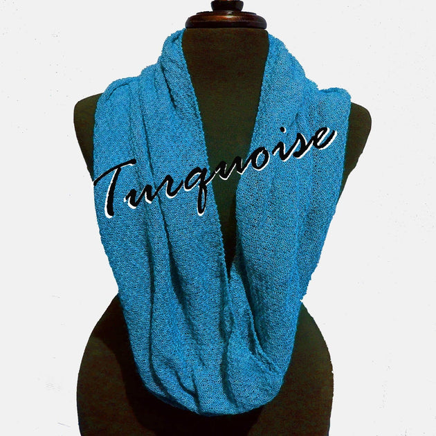 Bison Infinity Scarf Turquoise