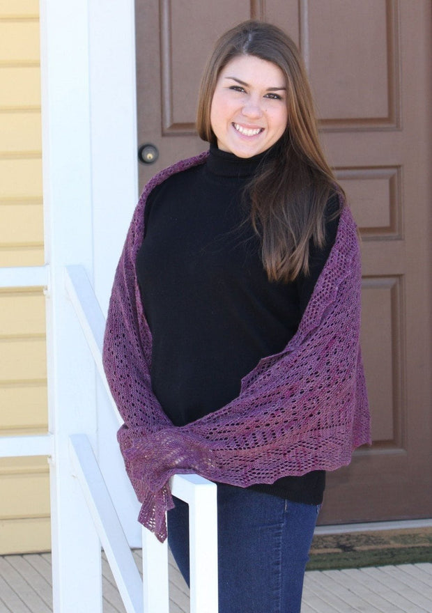 Myshkin Russian Shawl - PDF Pattern Download Patterns & Kits The Buffalo Wool Co.
