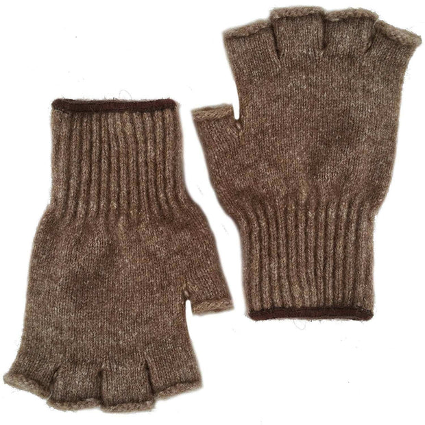 Advantage Gear - Bison/Merino Fingerless Gloves Bison Gear The Buffalo Wool Co.