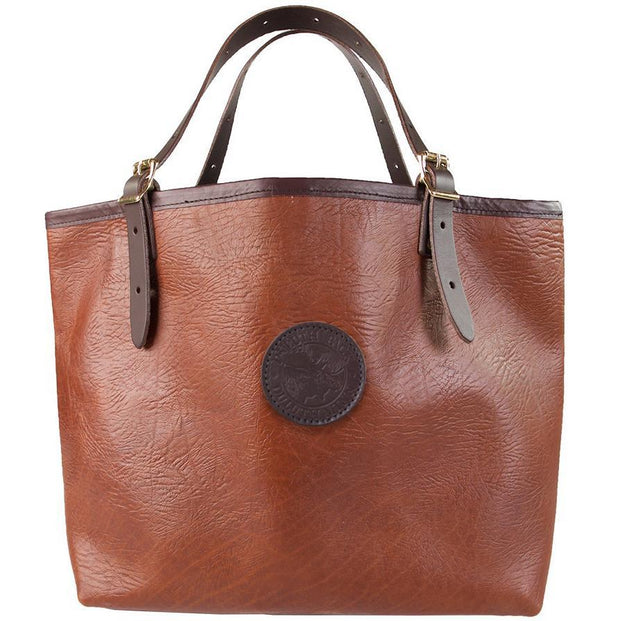 Bison Leather Market Tote Bag Duluth Pack Brown