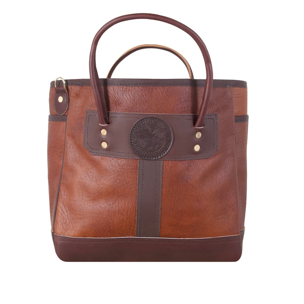 Bison Leather Sportsman's Tote Bag Duluth Pack Brown
