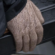 Ladies Cabled Gloves - Bison/Silk blend Bison Gear The Buffalo Wool Co.
