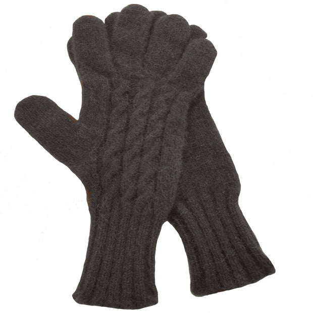 Ladies Cabled Bison Gloves
