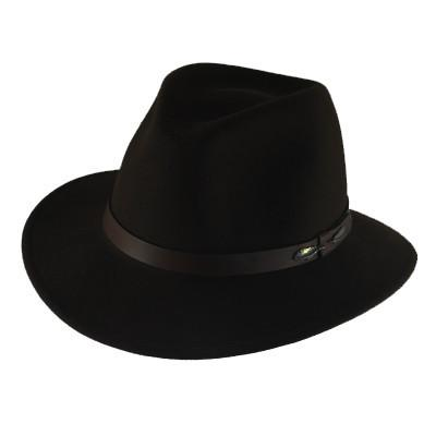 "The ""Outback"" in Black - Adventurer's Fedora"