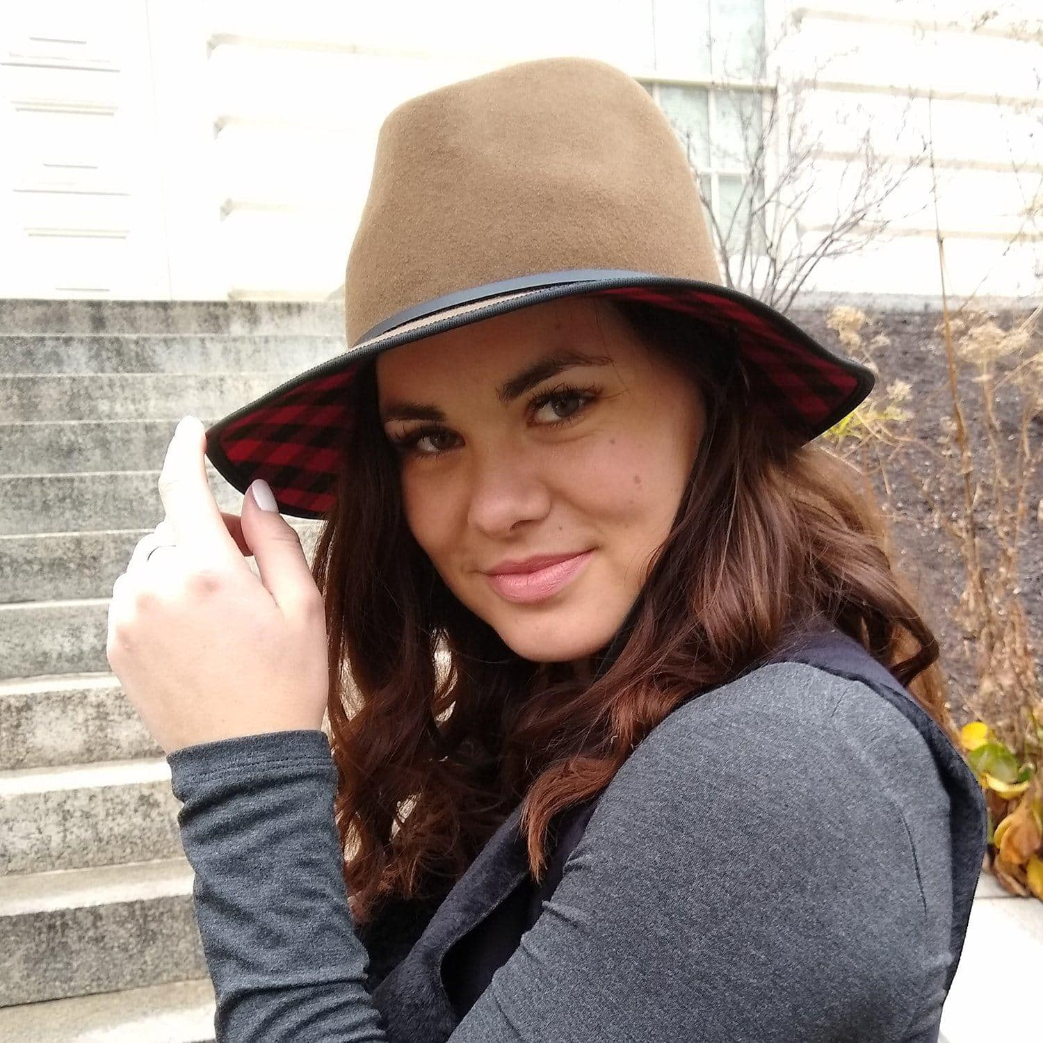 Image of Buffalo Check Packable hat
