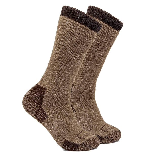 Advantage Trekker Bison/Merino Boot Socks Bison Footwear The Buffalo Wool Co. Medium 1 Pair