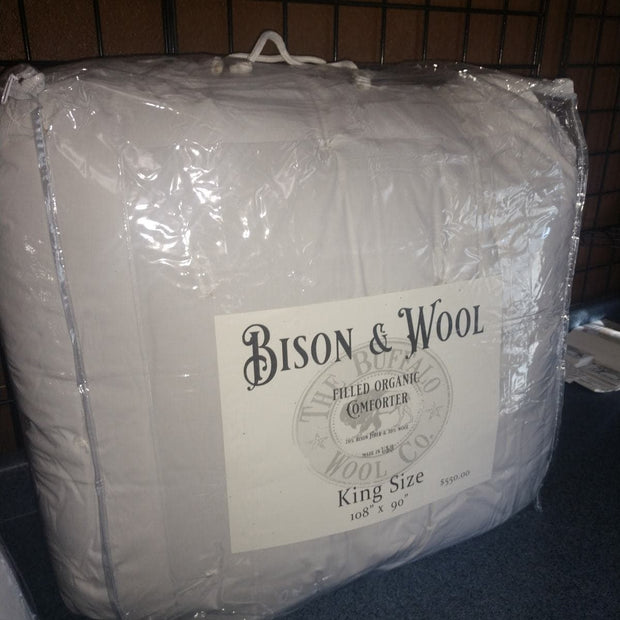 "Bison & Wool Comforters Accessories The Buffalo Wool Co. King 108""x90"""