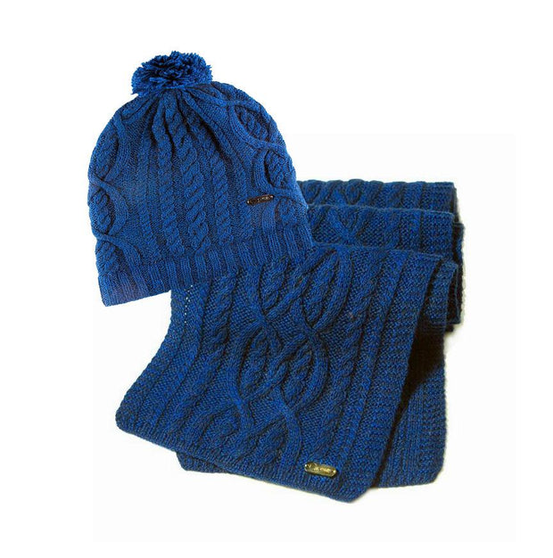 DAMARIS SCARF & HAT Qiviuk Collection Bison Gear The Buffalo Wool Co.