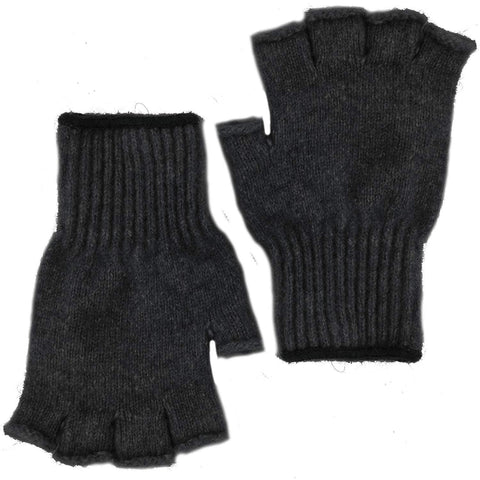 Extreme Bison Down Fingerless Gloves  Black
