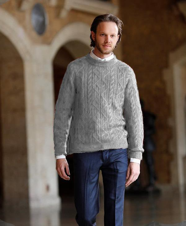 FISHERMENS PULLOVER Qiviuk Collection The Buffalo Wool Co.