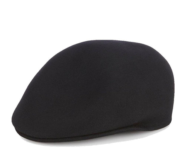 "The ""Isaac"" Cuffley Cap Bison Gear The Buffalo Wool Co. Medium Jet Black"