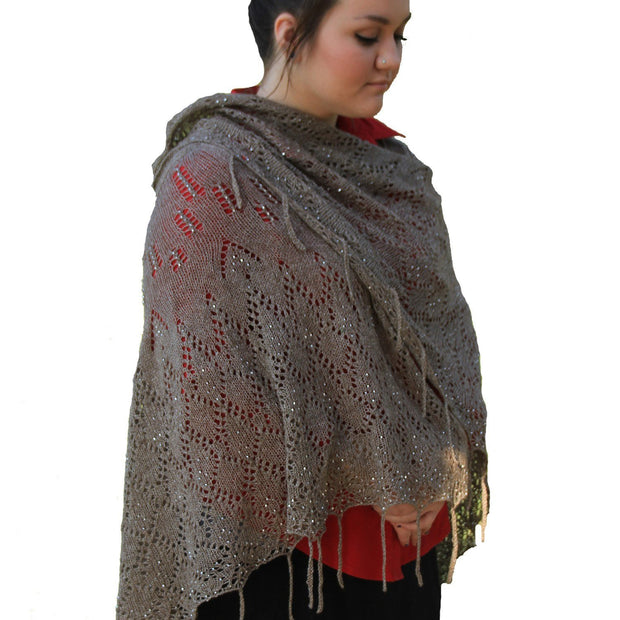 Phoenix Rising shawl - PDF pattern Patterns & Kits The Buffalo Wool Co.