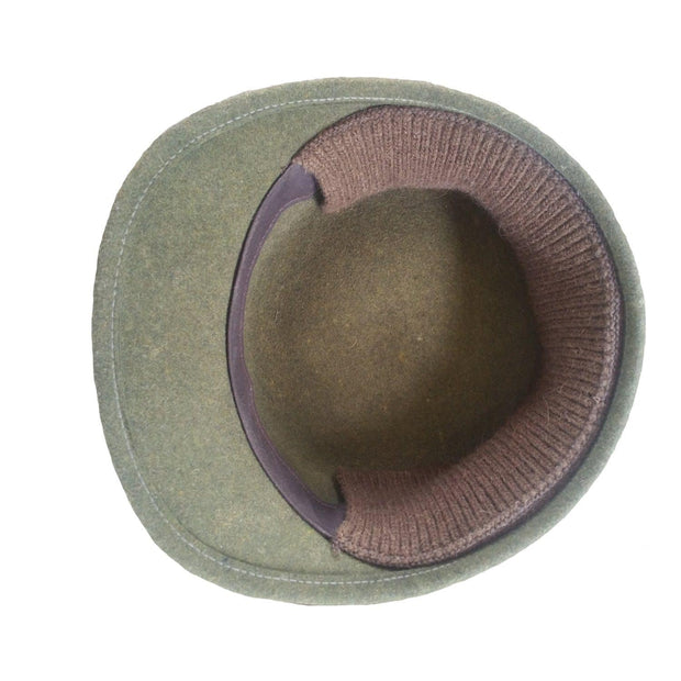 Red River Buffalo Cap - bison earband flipped up inside of hat