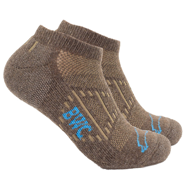 The B.O.S.S. (Best Overall Short Sock) Bison Footwear The Buffalo Wool Co. Natural Medium