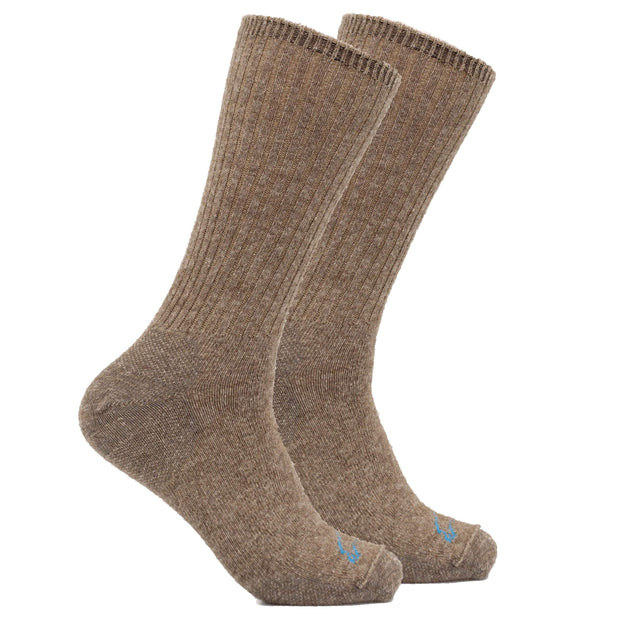 Casual Crew Bison/Merino blend Socks Bison Footwear The Buffalo Wool Co. Natural Medium 1 Pair