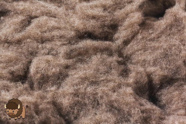 Bison Fiber Soil Amendment 1lb package Yarn The Buffalo Wool Co.