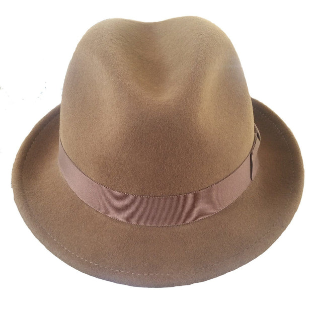 The Sol Fedora Dark brown Bison Gear The Buffalo Wool Co.