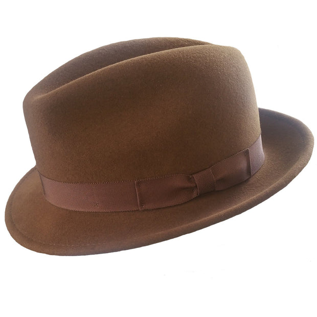 The Sol Fedora Dark brown Bison Gear The Buffalo Wool Co. small