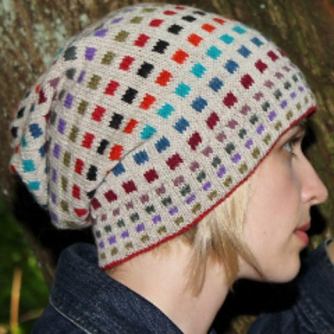 Spare Squares Hat pdf pattern