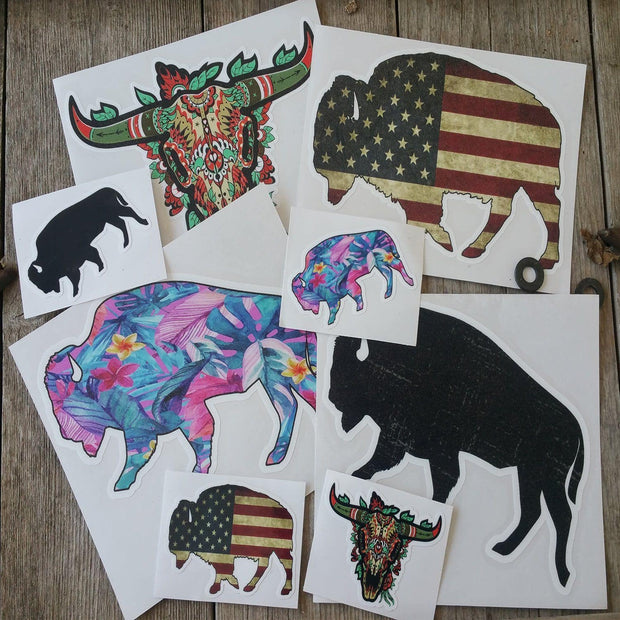 "Bison ""Buffalo"" Stickers Accessories The Buffalo Wool Co."