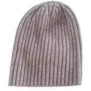 Ribbed Bison/Silk Knitted Hat Bison Gear The Buffalo Wool Co. Natural