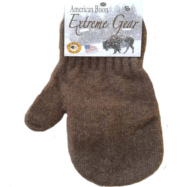 Extreme Gear Bison Down Mittens - brown Bison Gear The Buffalo Wool Co. Medium Brown
