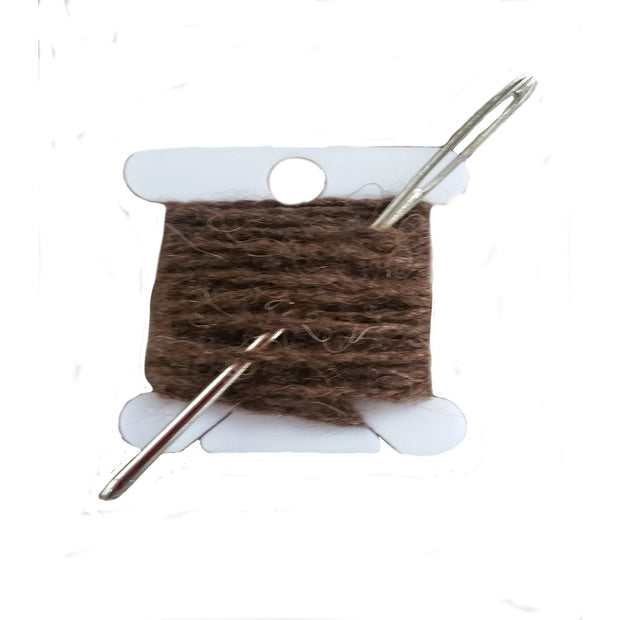 Darning repair Kits The Buffalo Wool Co. extreme brown (90% bison 10% nylon)