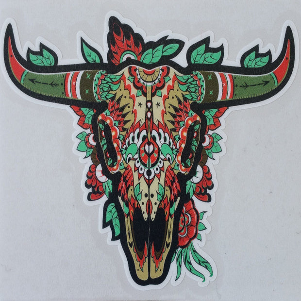 "Bison ""Buffalo"" Stickers Accessories The Buffalo Wool Co. Decorated Bison skull - Large"