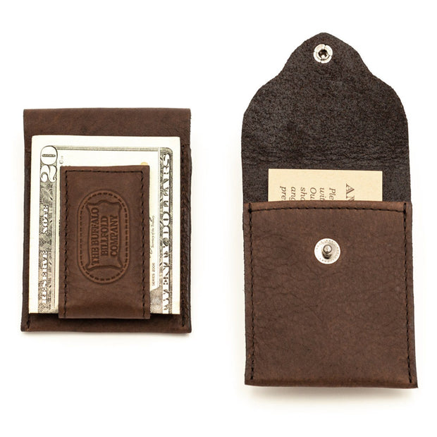 Money Clip Accessories The Buffalo Billfold Co Magnetic clip (front and back view)