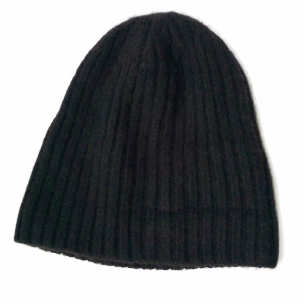 Bison Beanie Bison Gear The Buffalo Wool Co. Ribbed - Black