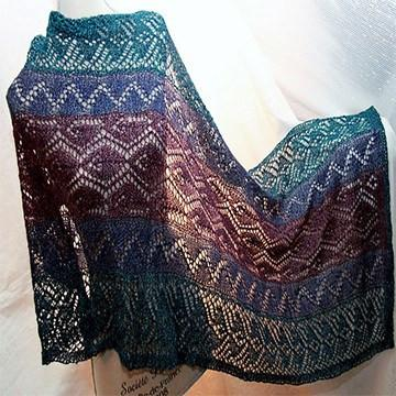 Northern Light Shawl PDF Pattern Patterns & Kits The Buffalo Wool Co.
