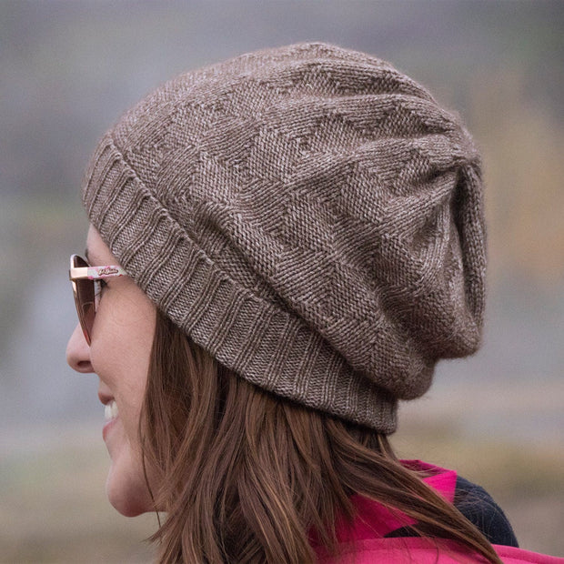 Slouchy Bison/Silk Knitted Hat Bison Gear The Buffalo Wool Co.