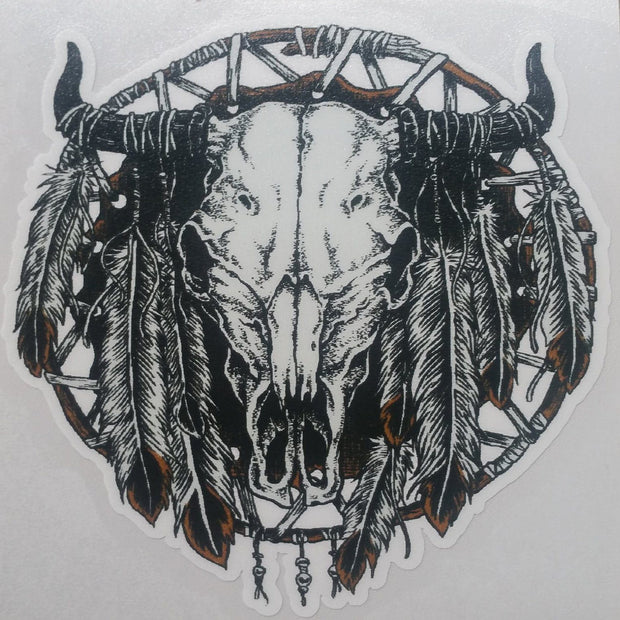 "Bison ""Buffalo"" Stickers Accessories The Buffalo Wool Co. Buffalo tribal skull - Large"