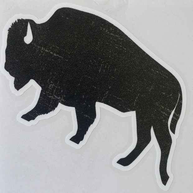 "Bison ""Buffalo"" Stickers Accessories The Buffalo Wool Co. Black Bison - small"