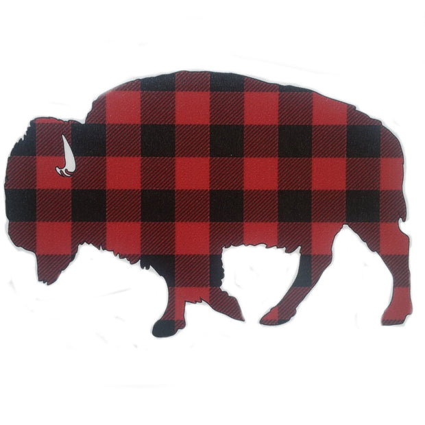 "Bison ""Buffalo"" Stickers Accessories The Buffalo Wool Co. Buffalo Check - small"