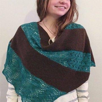 Three Rivers Shawl knitting PDF pattern Patterns & Kits The Buffalo Wool Co.