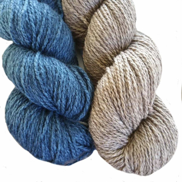 Winter Park knitting kit - color choice natural & blue