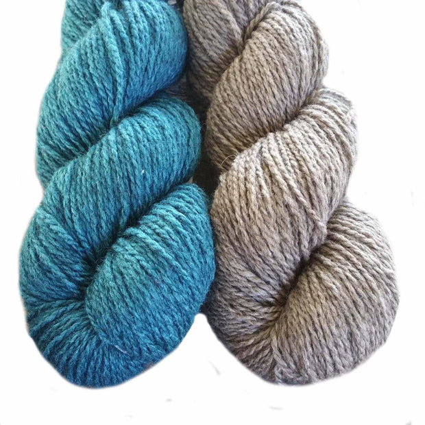 Winter Park knitting kit - color choice natural & teal