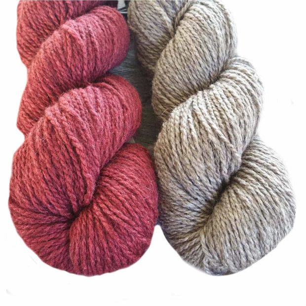 Winter Park knitting kit Patterns & Kits The Buffalo Wool Co. Natural & Red