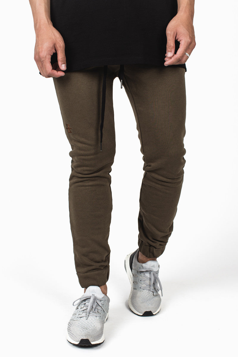 003 Skinny Joggers :: Army